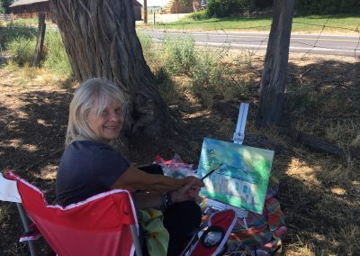 Picture of member on our plein air paint out