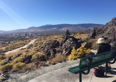 Reno landscape plein air paint out with the Latimer Art Club