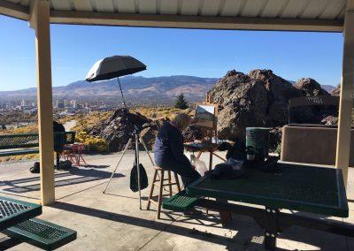 plein air paintout december Reno