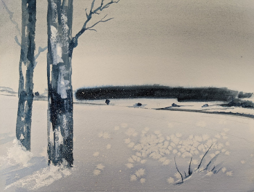 Anette Rink Portfolio 'The Shortest Day' Watercolor on Paper